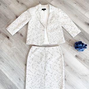Textured Cream Blazer and Skirt Suit by Talbots